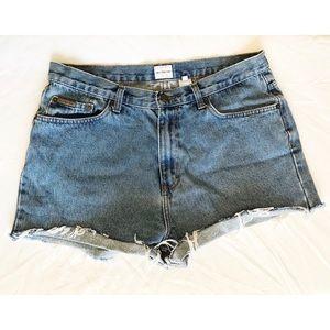 Calvin Klein High Waisted Cut-Off Jean Shorts